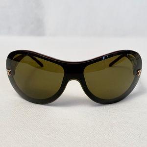 Chanel Tortoise  Brown Gradient Sunglasses